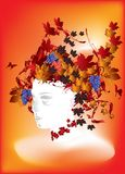 Ms. Autumn. Abstract illustration of autumn in vector format Royalty Free Stock Images