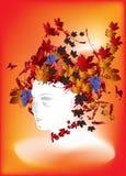 Ms. Autumn. Abstract illustration of autumn in vector format stock illustration