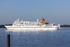 MS Bremen On Elbe River Royalty Free Stock Image