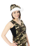 Ms. Camouflage Santa Royalty Free Stock Photos