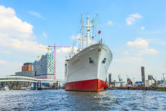 MS Cap San Diego in the port of Hamburg Stock Photo