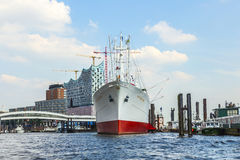 MS Cap San Diego in the port of Hamburg Stock Photo