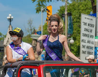 Ms. Capital Pride Riding in Parade Stock Photography