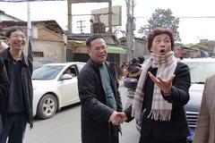 Ms czeka huangling zbawcza praca Zdjęcia Stock