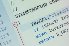Más de C más código fuente Imagenes de archivo
