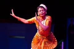 Ms. Deepa Chakravarthy, Chennai, Indian woman dancer. Indian dance festival - 2016 - Mamallapuram. January 6, 2016, Mohiniyattam Stock Photography