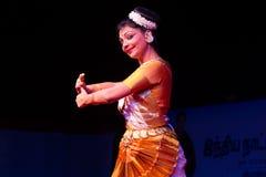 Ms. Deepa Chakravarthy, Chennai, Indian woman dancer. Indian dance festival - 2016 - Mamallapuram. January 6, 2016, Mohiniyattam Royalty Free Stock Photo