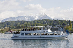 MS Dragon on the waters of Lake Lucerne Stock Photo