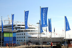 MS Europa  - one of the most luxury cruise ships ever Royalty Free Stock Photo