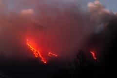 Más explosiones en la noche Fotos de archivo
