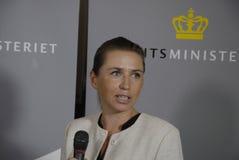 Ms FÖR MINISTERGRAN FÖR METTE FREDERIKSEN_DANISH NY RÄTTVISA Royaltyfri Foto