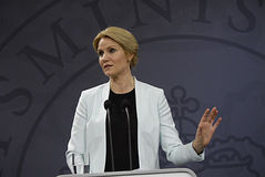 Ms.Helle Thonring-Schmidt danish PM Stock Photo