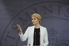 Ms.Helle Thonring-Schmidt danish PM Stock Photos