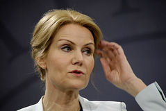Ms.Helle Thonring-Schmidt danish PM Royalty Free Stock Photo