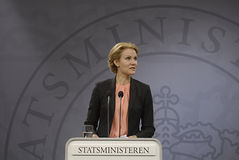 Ms.Helle Thorning Schmidt dänisches P.M. Stockfoto