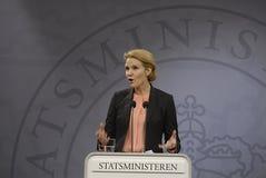 Ms.Helle Thorning Schmidt dänisches P.M. Stockbild
