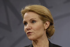 Ms.Helle Thorning Schmidt danish PM Stock Image