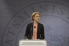Ms.Helle Thorning Schmidt P.M. danés Foto de archivo