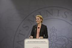 Ms.Helle Thorning Schmidt P.M. danés Fotografía de archivo