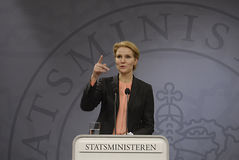 Ms.Helle Thorning Schmidt P.M. danés Imagenes de archivo