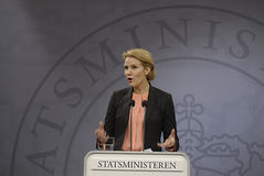 Ms.Helle Thorning Schmidt PM dinamarquês Imagem de Stock
