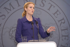 Ms.HELLE THORNING SCHMIDT_PRIME MINISTER Royalty Free Stock Photo