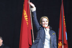 MS.HELLE THORNING-SCHMIDT_1ST MAY 2015 Royalty Free Stock Photography