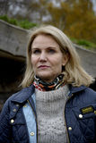 MS.HELLE THORNING-SCMHIDT_danish prime ministers Royalty Free Stock Image