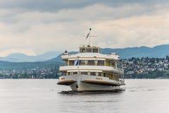 MS Helvetia naczynie na Jeziornym Zurich Zdjęcie Stock