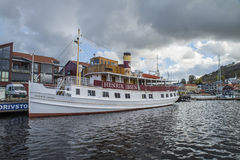 MS Henrik Ibsen docked at the port of Halden Stock Photography