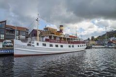 MS Henrik Ibsen docked at the port of Halden Stock Photography