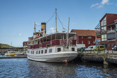 MS Henrik Ibsen docked at the port of Halden Royalty Free Stock Image