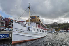 MS Henrik Ibsen docked at the port of Halden Royalty Free Stock Photo
