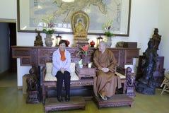 Ms huangling meet zewu abbot Stock Photography