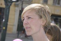 Ms IDA AUKEN_COMPAIGN FÖR OMVAL arkivfoto