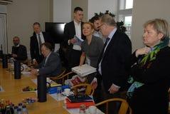 Ms INGER STOJBERG_DANISH MINISTER Royaltyfria Bilder