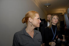 Ms.INGER STOJBERG_DANISH MINISTER Royalty Free Stock Photo