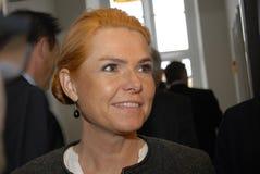 MS.INGER STOJBERG _MINISTER FOR INTEGRATION Stock Image