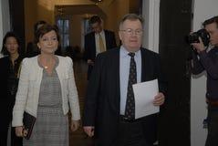 MS.KAREN ELLEMANN_JENSEN & CLAUS HJORT FREDERIKSEN Stock Images