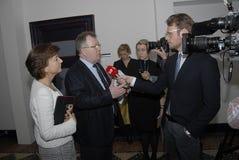 MS.KAREN ELLEMANN_JENSEN & CLAUS HJORT FREDERIKSEN Stock Image
