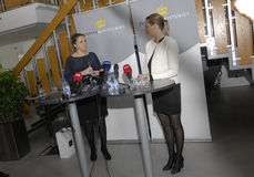 MS.KAREN HAEKKERUP &MS. METTE FREDERIKSEN Stock Image