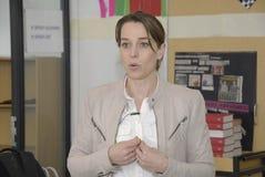 Ms KIRSTEN BROSBOL_MINISTER FÖR MILJÖ royaltyfria foton