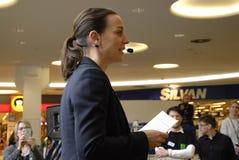 Ms.Kirsten Broshbol danish minister for Envornment Royalty Free Stock Images