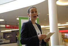 Ms.Kirsten Broshbol danish minister for Envornment Royalty Free Stock Photo
