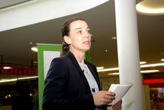 Ms.Kirsten Broshbol danish minister for Envornment Stock Photo