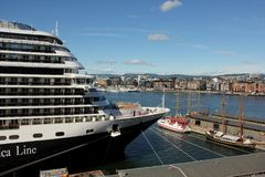 MS Koningsdam. The cruise liner MS Koningsdam docked at the capital city of Oslo, Norway Stock Images