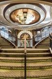 MS królowej Elizabeth foyeru Uroczysty schody Zdjęcie Royalty Free