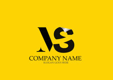 MS Letter Logo Design Fotografia de Stock Royalty Free