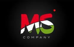 MS M S alphabet letter logo combination icon alphabet design Royalty Free Stock Photos