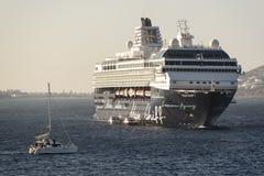 MS Mein Schiff off Mykonos.  Royalty Free Stock Image